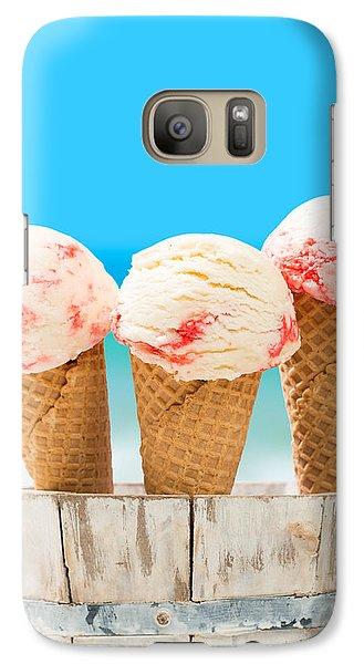 Raspberry Galaxy S7 Case - Ice Creams by Amanda Elwell