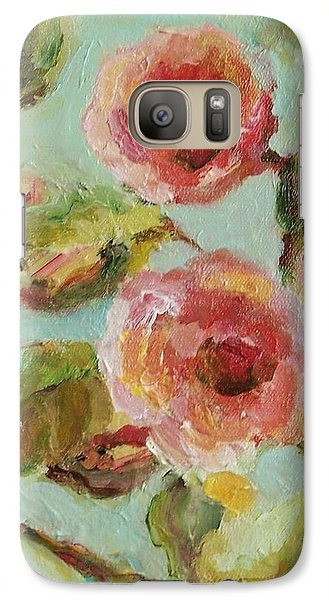 Galaxy Case featuring the painting Impressionist Floral Painting by Mary Wolf
