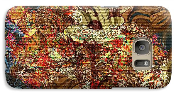 Galaxy Case featuring the photograph Iris by Kathie Chicoine