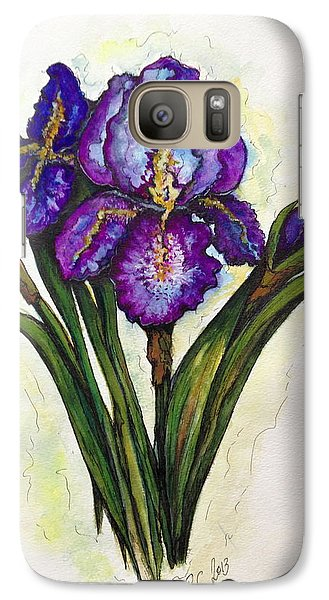 Galaxy Case featuring the painting Irises by Rae Chichilnitsky
