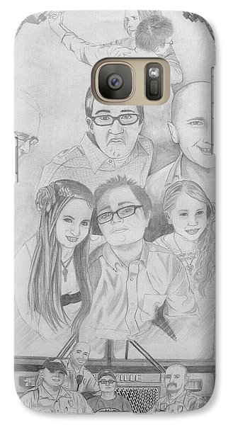 Galaxy Case featuring the drawing Iron Will by Justin Moore