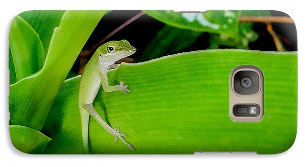 Galaxy Case featuring the photograph It's Easy Being Green by TK Goforth