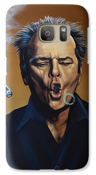 Jack Nicholson Painting Galaxy S7 Case by Paul Meijering