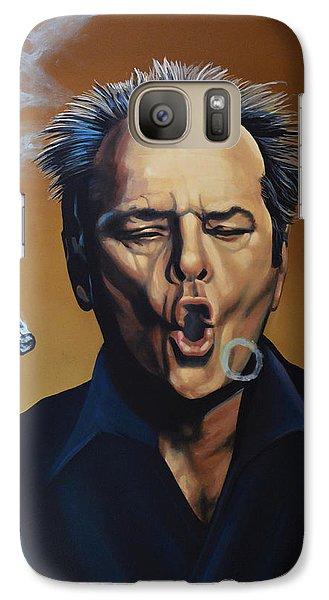 Realistic Galaxy S7 Case - Jack Nicholson Painting by Paul Meijering