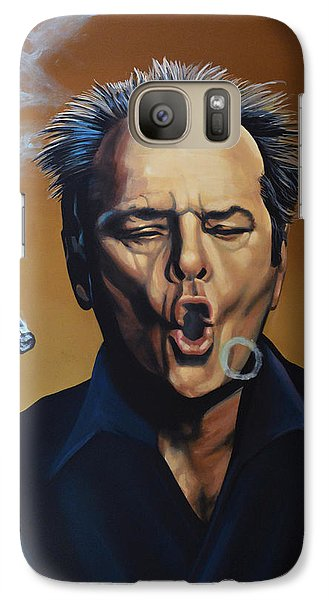 Jack Nicholson Painting Galaxy Case by Paul Meijering