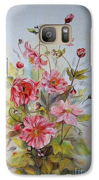 Japanese Anemones Galaxy S7 Case by Beatrice Cloake