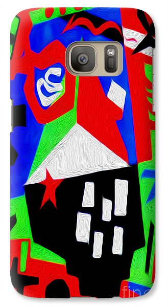 Galaxy Case featuring the digital art Jazz Art - 04 by Gregory Dyer