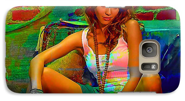 Jessica Alba Galaxy S7 Case by Marvin Blaine