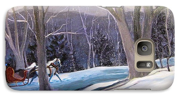 Galaxy Case featuring the painting Jingle Bells by Gretchen Allen