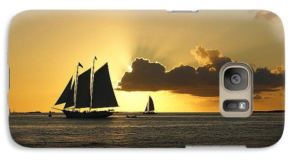 Galaxy Case featuring the photograph Key West Sunset by Olga Hamilton