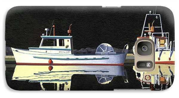 Galaxy Case featuring the painting Last Light  Island Moorage by Gary Giacomelli