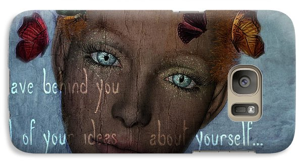 Galaxy Case featuring the digital art Leave Behind You All Of Your Ideas About Yourself by Barbara Orenya