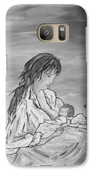Galaxy Case featuring the painting Legame Continuo by Loredana Messina