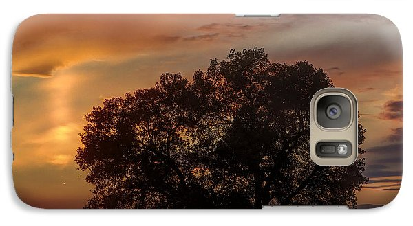 Galaxy Case featuring the photograph Light Pillar And Cottonwood by Rob Graham