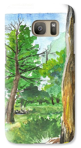 Galaxy Case featuring the painting Lightening Strike Tree by Sherril Porter
