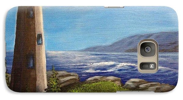Galaxy Case featuring the painting Lighthouse by Bozena Zajaczkowska