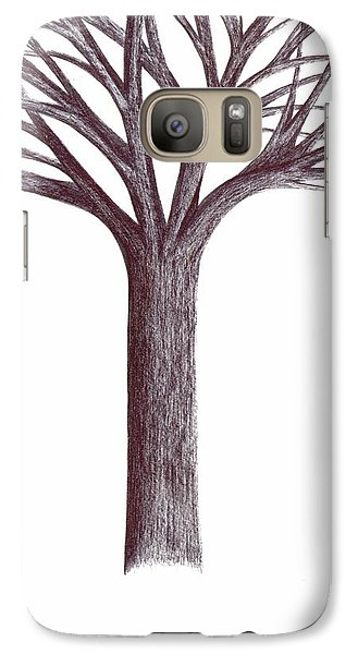 Galaxy Case featuring the drawing Second-generation....tree Without Roots by Giuseppe Epifani