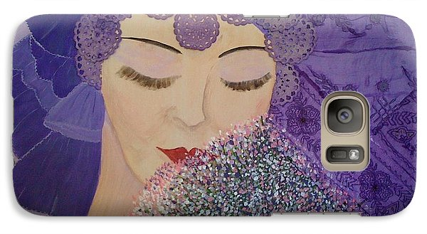 Galaxy Case featuring the mixed media Lilac And Lace by Judi Goodwin