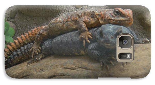 Galaxy Case featuring the photograph Lizard Love by Carla Carson
