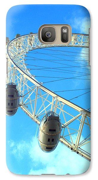 Galaxy Case featuring the photograph London Eye by Rachel Mirror