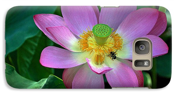 Galaxy Case featuring the photograph Lotus Flower by Jerry Gammon