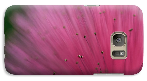 Galaxy Case featuring the photograph Macro Photograph Of A Calliandra Flower by Zoe Ferrie
