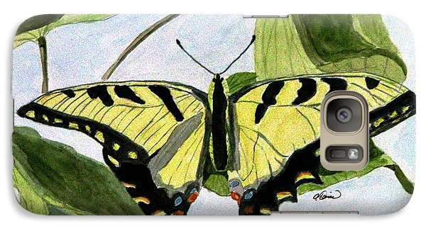 Galaxy Case featuring the painting Male Eastern Tiger Swallowtail by Angela Davies