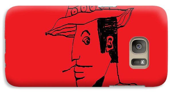 Galaxy Case featuring the drawing Man From Buenos Aires by Don Koester
