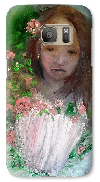 Galaxy Case featuring the painting Mary Rosa by Laurie L
