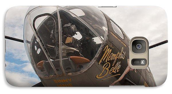 Galaxy Case featuring the photograph Memphis Belle Nose Art by John Black