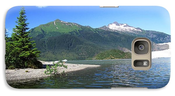 Galaxy Case featuring the photograph Mendenhall Glacier by Jennifer Wheatley Wolf