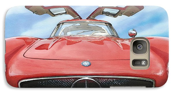 Galaxy Case featuring the painting Mercedes Gullwing by Rod Seel