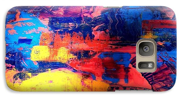 Galaxy Case featuring the painting Mesa Magic by Carolyn Repka