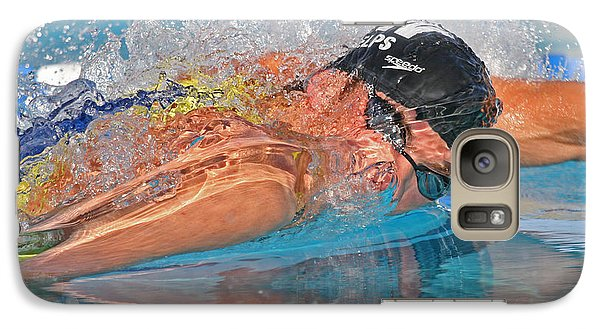 Galaxy Case featuring the photograph Michael Phelps by Duncan Selby