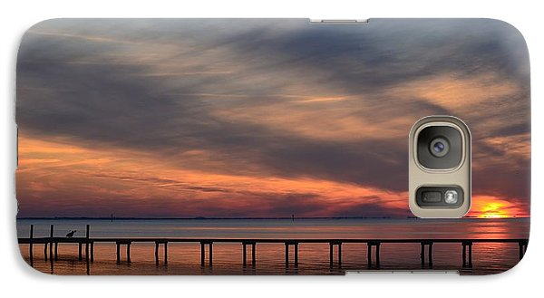 Galaxy Case featuring the photograph Mirrored Sunset Colors On Santa Rosa Sound by Jeff at JSJ Photography