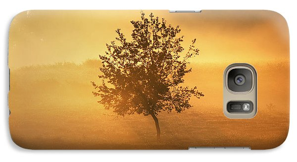 Galaxy Case featuring the photograph Morning Fog by Linda Segerson