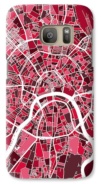 Moscow City Street Map Galaxy S7 Case by Michael Tompsett