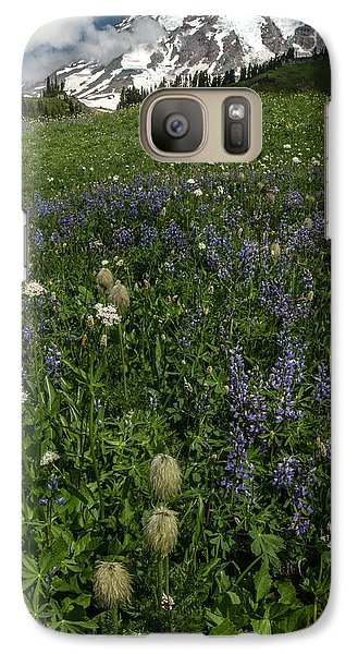 Galaxy Case featuring the photograph Mount Rainier From Paradise by Bob Noble Photography