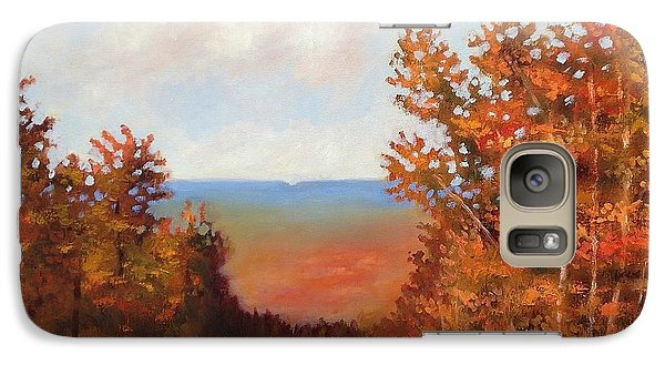 Galaxy Case featuring the painting Mountain View by Jason Williamson