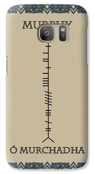 Galaxy Case featuring the digital art Murphy Written In Ogham by Ireland Calling