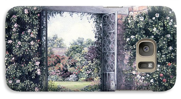 Galaxy Case featuring the painting My Secret Garden by Rosemary Colyer
