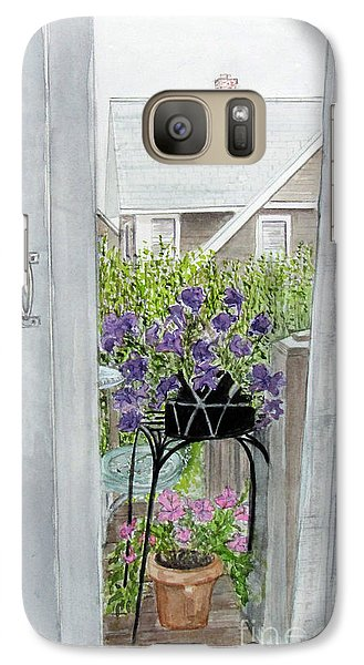 Galaxy Case featuring the painting Nantucket Room View by Carol Flagg