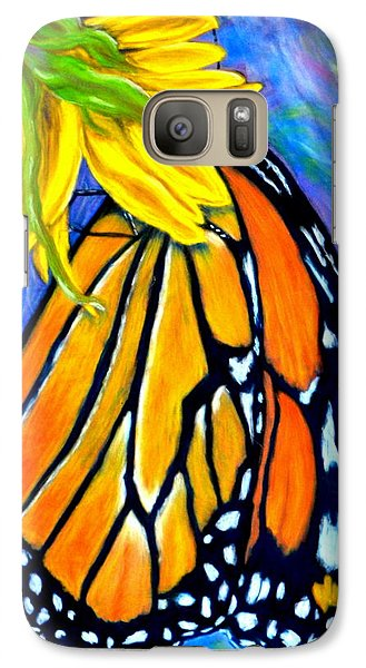 Galaxy Case featuring the pastel Natures Design   Pastel by Antonia Citrino