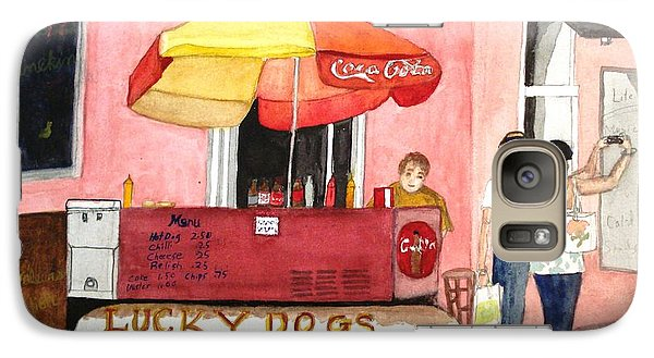 Galaxy Case featuring the painting New Orleans Lucky Dogs by June Holwell