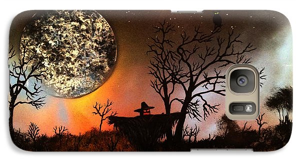 Galaxy Case featuring the painting Night Of The Scarecrow  by Michael Rucker