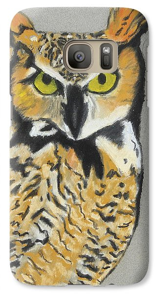 Galaxy Case featuring the painting Night Owl by Jeanne Fischer