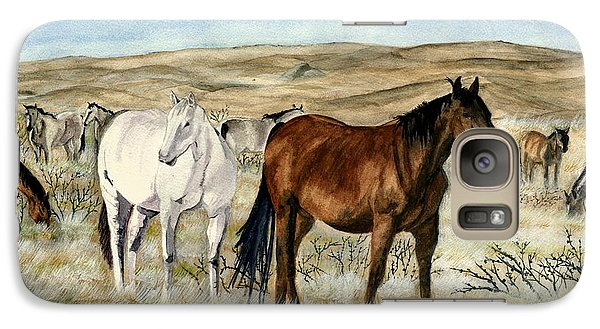 Galaxy Case featuring the painting Nine Horses by Melly Terpening