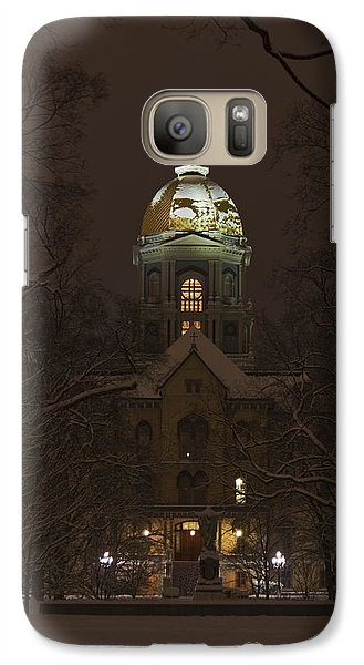 Notre Dame Golden Dome Snow Galaxy S7 Case