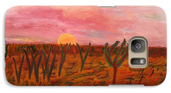 Galaxy Case featuring the painting Ocean City Sunset by Vadim Levin