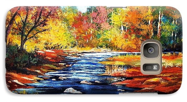 Galaxy Case featuring the painting October Bliss by Al Brown